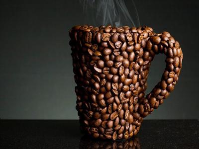 134936 kávészemekkel kirakott pohár