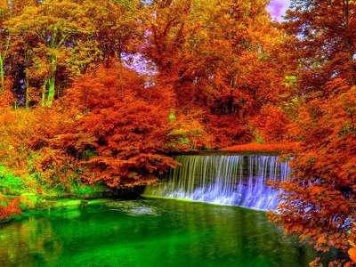 őszi táj, folyó198914