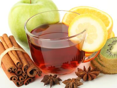 tea kivi, fahéj diszítéssel 137592