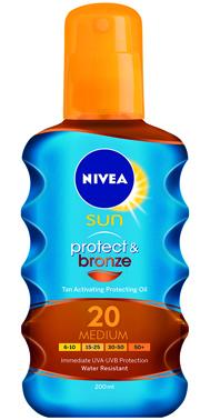 NIVEA Protect & Bronze Barnulást Támogató Napolaj Spray FF 20 200ml 4199Ft