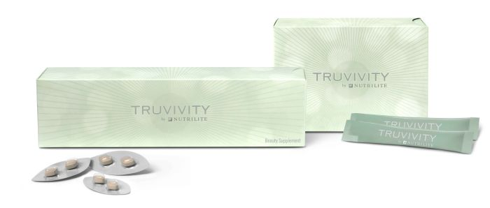 Truvivity Beauty Supplement and Beauty Powder Drink product shot