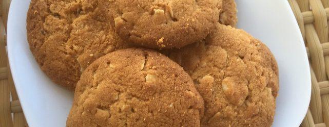 Szerkesztőségi kedvenc: fehér csokis-mandulás kekszrecept