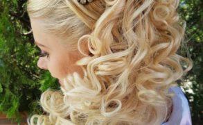 Romantikus esküvői frizura ötlet Nemes-Meggyes Zsuzsannától