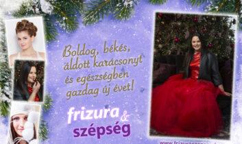 Áldott, békés karácsonyt és egészségben gazdag új évet kívánunk nektek!